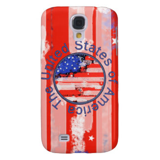 rounded USA flag Galaxy S4 Case
