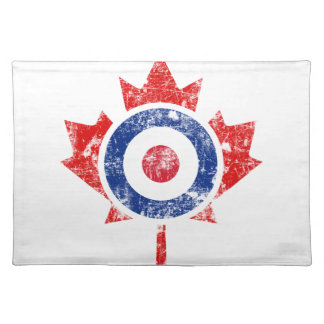 Roundel Canada Curling Hockey Target Grunge Ice Cloth Placemat