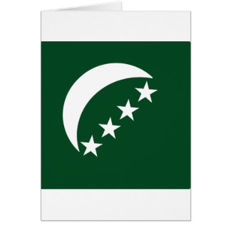 Roundel comores, Comoros Greeting Card