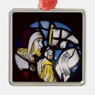 Roundel del profeta Jeremiah, siglo XV Ornamentos De Navidad