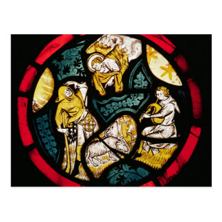 Roundel depicting the Annunciation to Shepherds Postcard