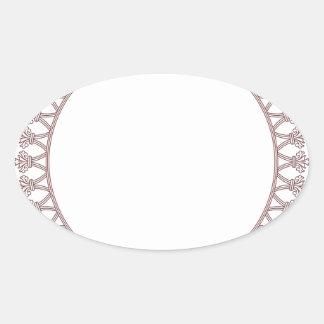 Roundel elegante pegatina ovalada