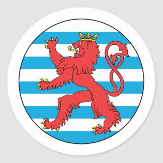 Roundel Luxembourg Luxembourg Round Sticker