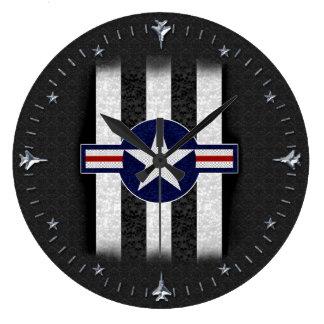 Roundel militar del cuerpo de aire reloj redondo grande