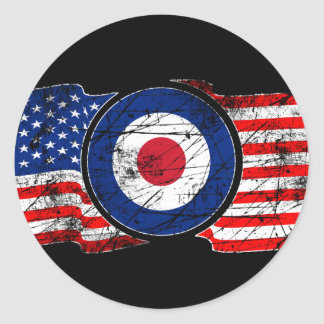 Roundel Mods USA Target Scooter Classic Round Sticker