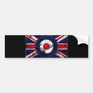 Roundel Target Mods UK Target Union Jack Bumper Sticker