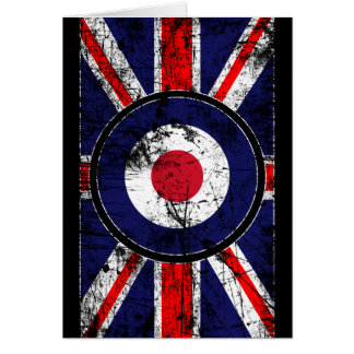 Roundel Target Mods UK Target Union Jack Greeting Card
