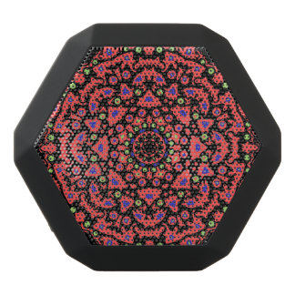 Roundelay Abstract Art Black Bluetooth Speaker