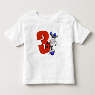 ROUNDER WITH THE NUMBER THREE TODDLER T-SHIRT
