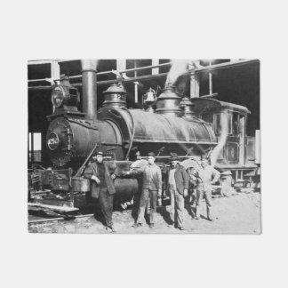 Roundhouse at Battle Creek Michigan Locomotive Doormat