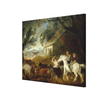 Rounding up before the Storm, 1805 (oil on panel) Canvas Print