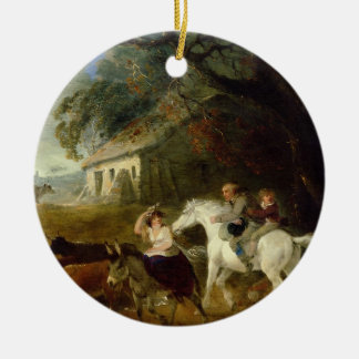 Rounding up before the Storm, 1805 (oil on panel) Ceramic Ornament