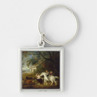 Rounding up before the Storm, 1805 (oil on panel) Keychain