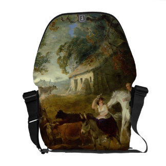 Rounding up before the Storm, 1805 (oil on panel) Messenger Bag