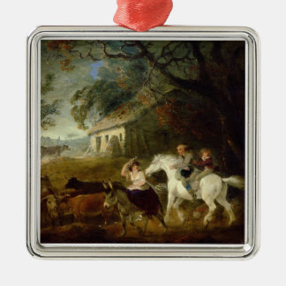 Rounding up before the Storm, 1805 (oil on panel) Metal Ornament