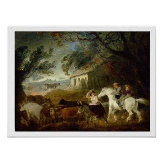 Rounding up before the Storm, 1805 (oil on panel) Poster