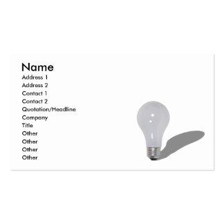 RoundLightbulb062210Shadows, Name, Address 1, A... Business Card