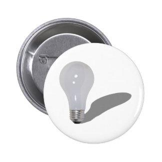 RoundLightbulb062210Shadows Pinback Button