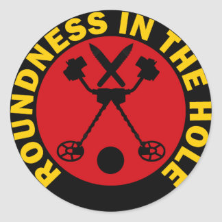 Roundness In The Hole Classic Round Sticker