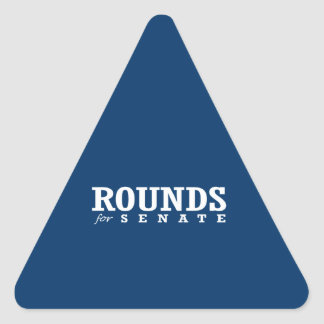 ROUNDS FOR SENATE 2014 TRIANGLE STICKERS