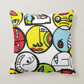 Rounds Heads Throw Pillow