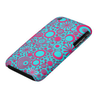 Rounds, Pink-Aqua iPhone 3G/3Gs Case iPhone 3 Cover