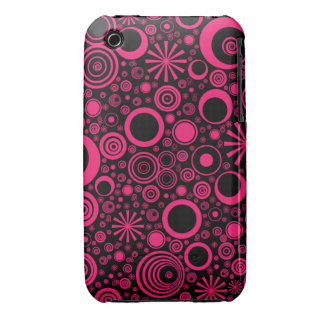 Rounds, Pink-Black iPhone 3g/3gs Phone Case iPhone 3 Cases