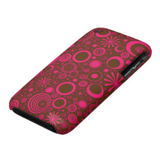 Rounds, Pink-Brown iPhone 3G/3Gs Case Case-Mate iPhone 3 Cases