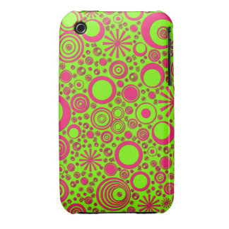 Rounds, Pink-Green iPhone 3G/3Gs Case Case-Mate iPhone 3 Case