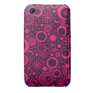Rounds, Pink-Purple iPhone 3G/3Gs Case iPhone 3 Cases