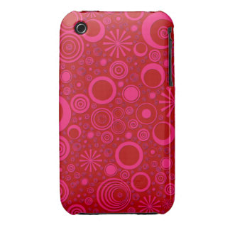 Rounds, Pink-Red iPhone 3G/3Gs Case iPhone 3 Case-Mate Cases