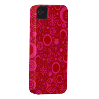 Rounds, Pink-Red iPhone 4/4s Universal Case
