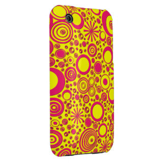 Rounds, Pink-Yellow iPhone 3G/3Gs Case Case-Mate iPhone 3 Case