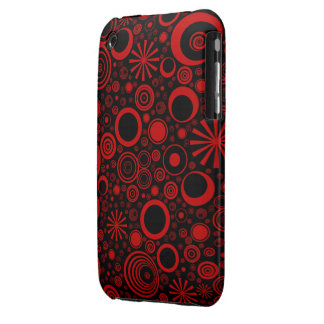 Rounds, Red-Black iPhone 3G/3Gs Case iPhone 3 Cover