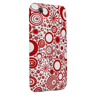 Rounds, Red-White iPhone 3g/3gs Phone Case iPhone3 Case