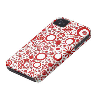 Rounds, Red-White iPhone 4/4s Phone Case