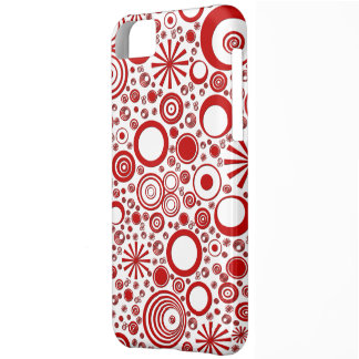 Rounds, Red-White iPhone 5c Phone Case