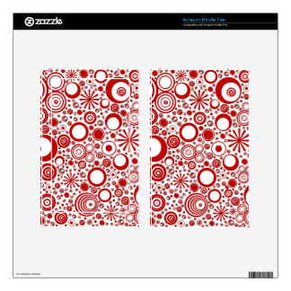 Rounds, Red-White Kindle Fire Skin
