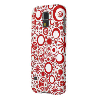 Rounds, Red-White Samsung Galaxy s5 Case