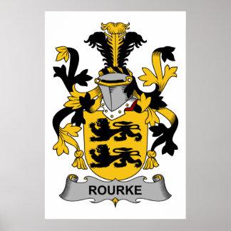 Rourke Family Crest Poster