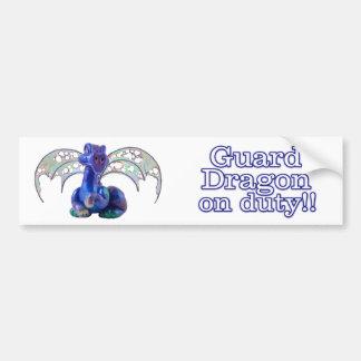 Rourke : Guard Dragon On Duty Bumper Sticker