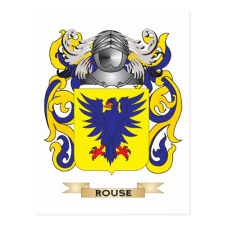 Rouse Coat of Arms (Family Crest) Postcard