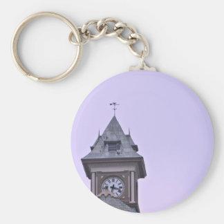 Rouss City Hall at Twilight Basic Round Button Keychain