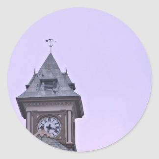 Rouss City Hall at Twilight Classic Round Sticker