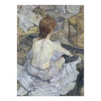 Rousse La Toilette by Henri de Toulouse-Lautrec 5.5x7.5 Paper Invitation Card