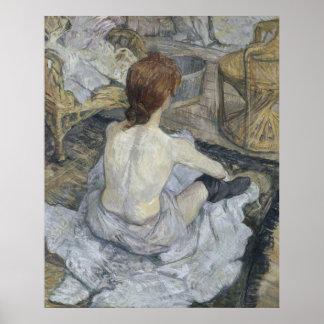 Rousse La Toilette by Henri de Toulouse-Lautrec Poster