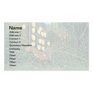 Rousseau - Battling Tiger and Buffalo Double-Sided Standard Business Cards (Pack Of 100)