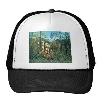 Rousseau - Battling Tiger and Buffalo Trucker Hat