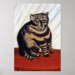 Rousseau - el gato de tigre impresiones