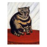 Rousseau - el gato de tigre tarjeta postal
